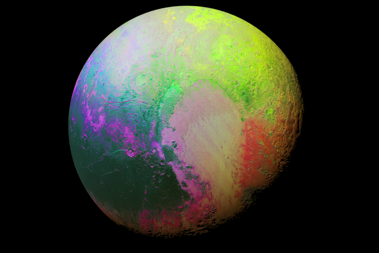 NASA releases false colour image of Pluto and it is trippy