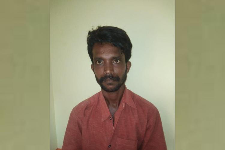 pudukottai rape accused Raja profile in green background