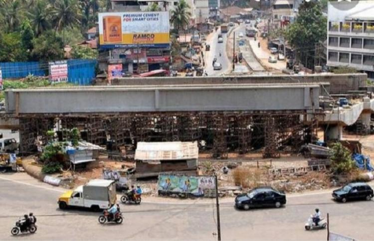 Delayed by 10 years BJP and Congress spar over Mangalurus incomplete Pumpwell Flyover
