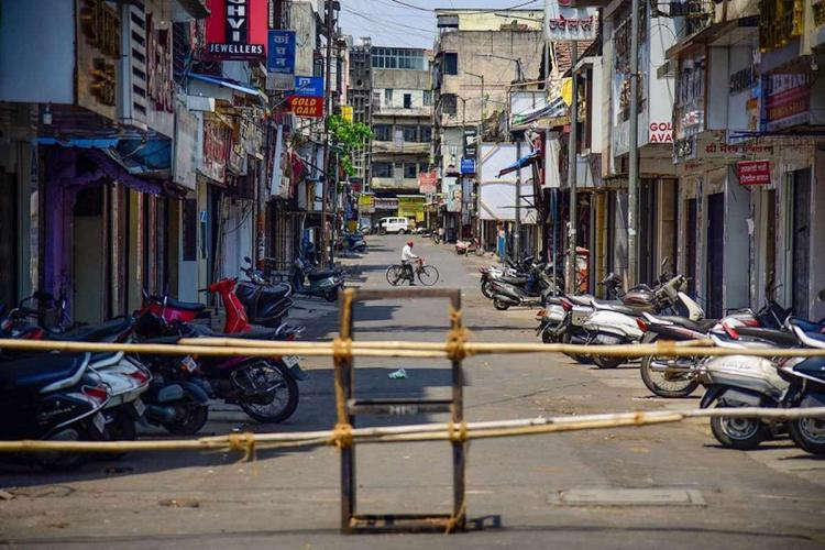 File image of a barricade put across a street in Punes Khadki cantonment area