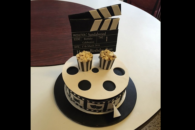 Check out Puneet Rajkumars birthday cake Even the clapboard is edible