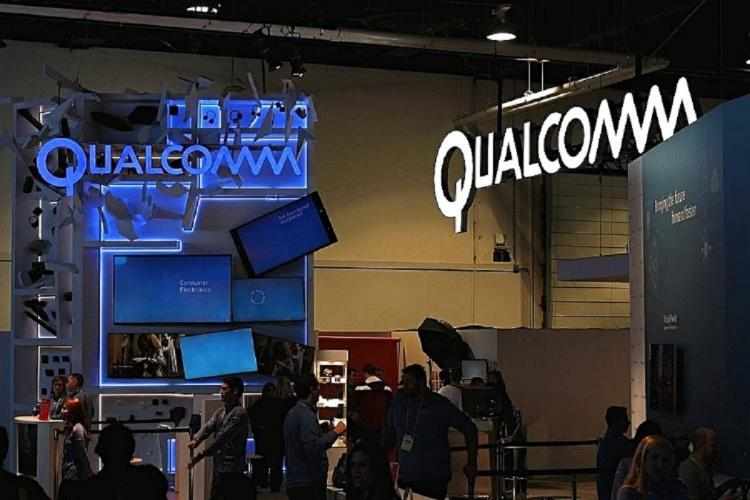The logo of Qualcomm at CES 2016