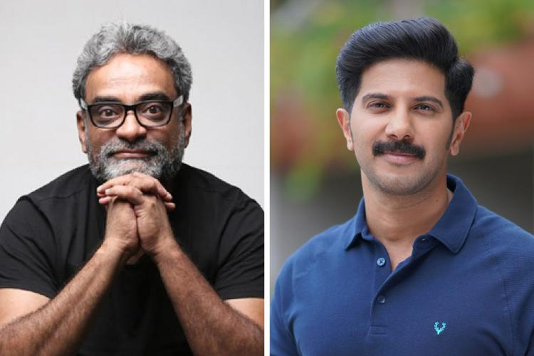 Director R Balki on the left and actor Dulquer Salmaan on the right