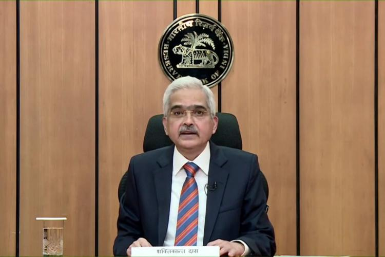 RBI Governor Shaktikanta Das delivering MPC address