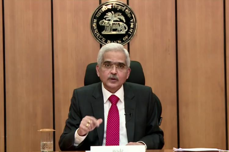 RBI Governor Shaktikanta Das addressing MPC decisions