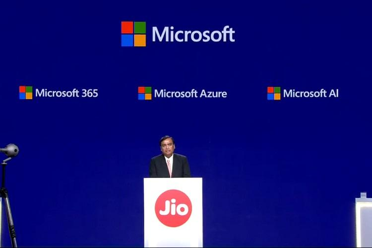 Jio Microsoft partner to launch data centres offer cloud solutions in India