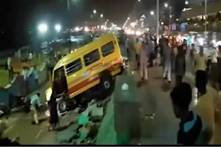Bus swerves off road at Vizags RK beach and mows down people one dead