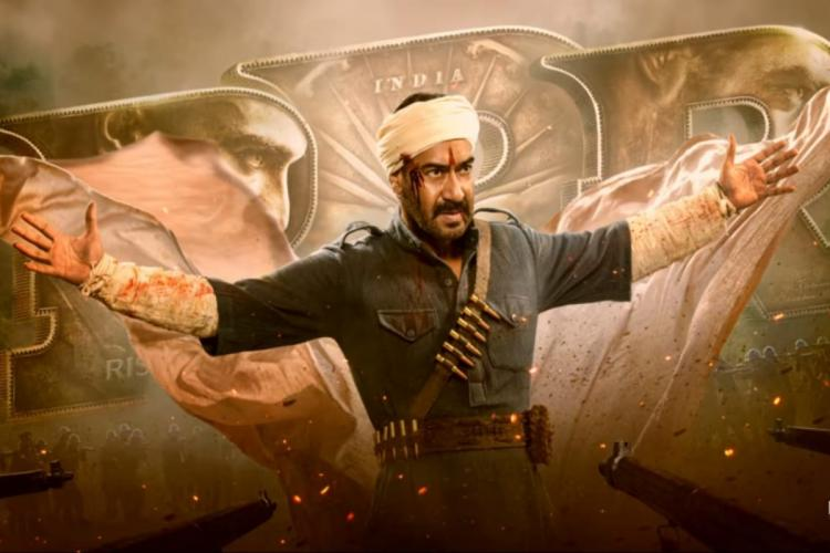 Ajay Devgn seen in a warrior- like avatar in the poster of RRR
