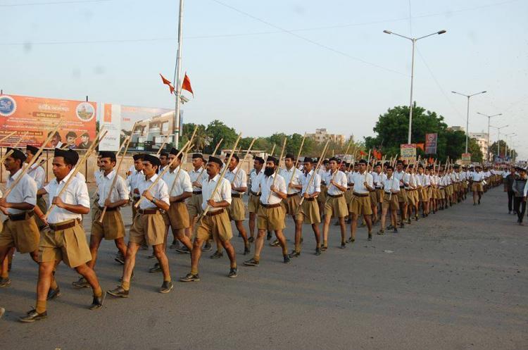 RSS loses Khaki shorts for brown trousers critics trends ChaddiNahinSochBadlo