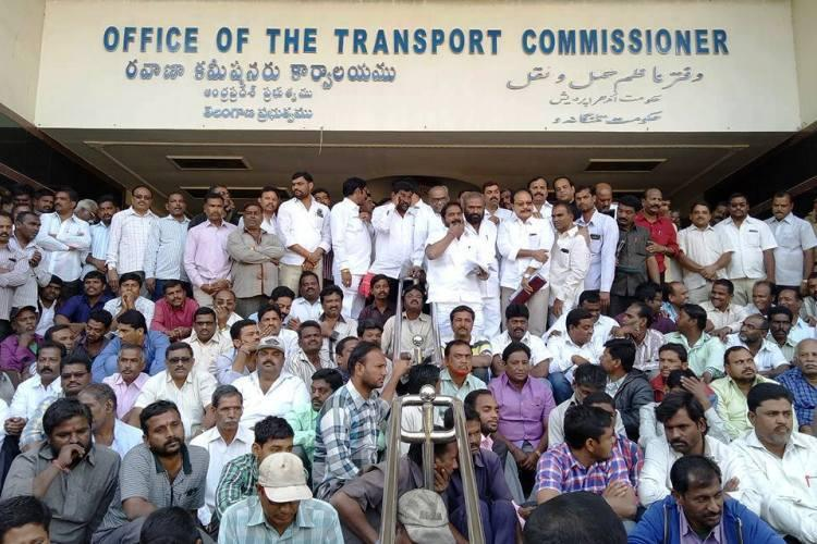 High drama at Hyderabad RTA office as supporters of TRS and TDP MLA clash