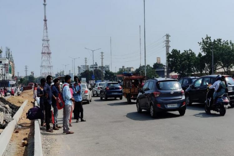 Hyderabad residents leaving to Andhra to celebrate Dasara