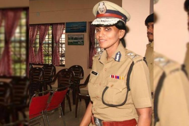 Former DGP R Sreekala in police uniform