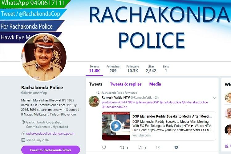 Hyderabad activist claims police blocked him on Twitter police deny