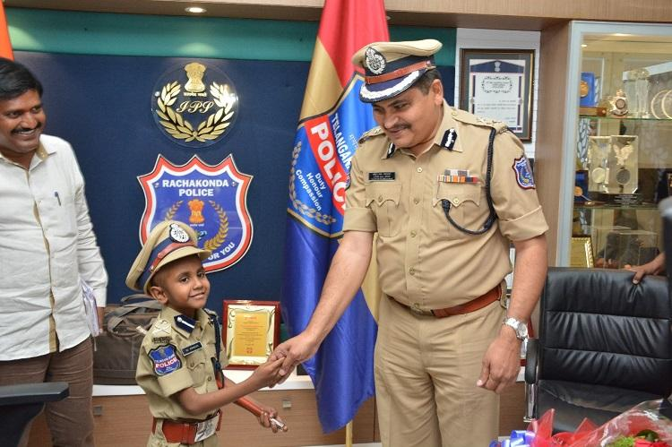 Ailing 6-yr-old gets his wish granted becomes Police Commissioner in Hyd for a day