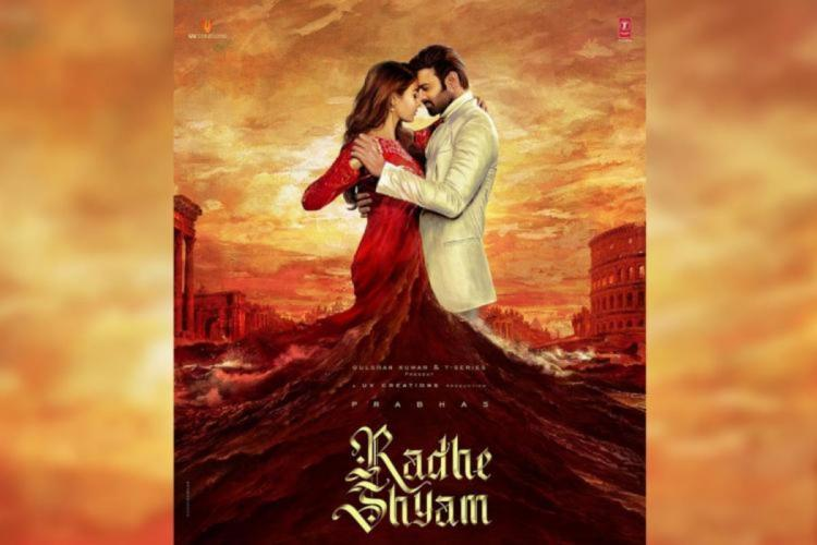 Prabhas and Pooja Hegde are seen in the poster of Radhe Shyam