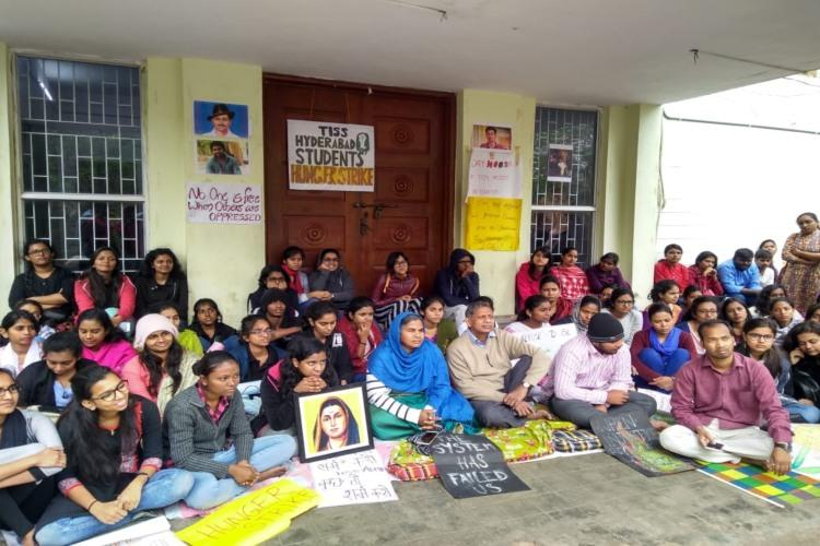 Radhika and Raja Vemula sit on hunger strike demand TISS rollback their decision
