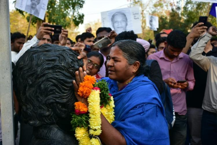 Vow to fight Hindu communal forces Radhika Vemula on Rohiths death anniversary