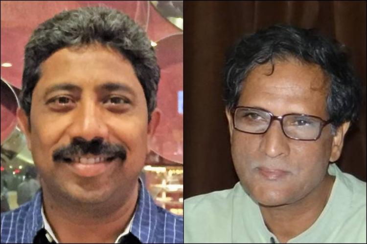 Advocate Raghunath and human rights activist VS Krishna