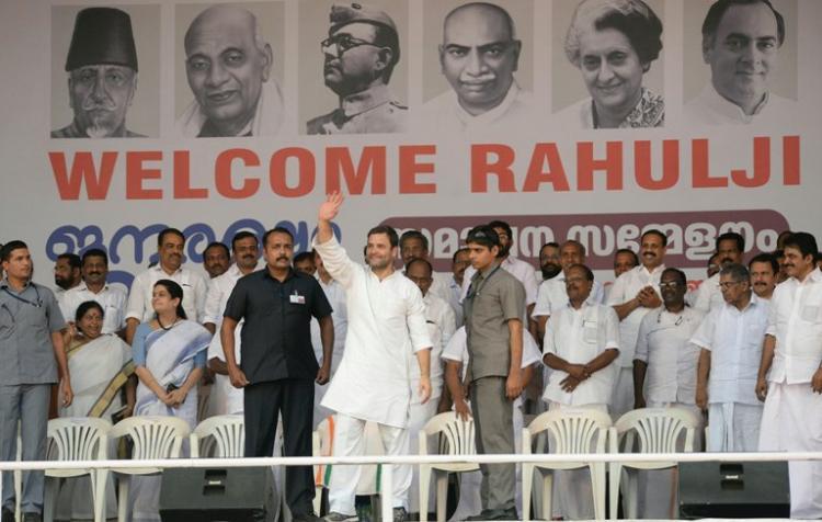 We will never see PM with a farmer or laborer Rahul Gandhi at Jana Raksha Yatra