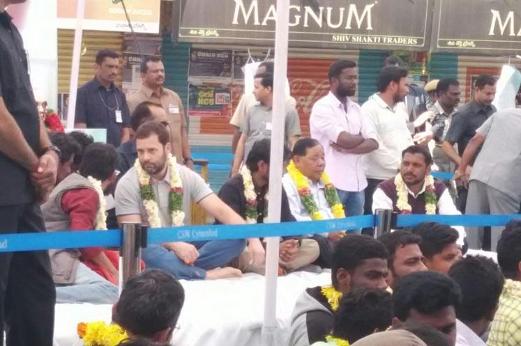 BJP calls Rahuls visit to HCU the Classic politics of vulturisation