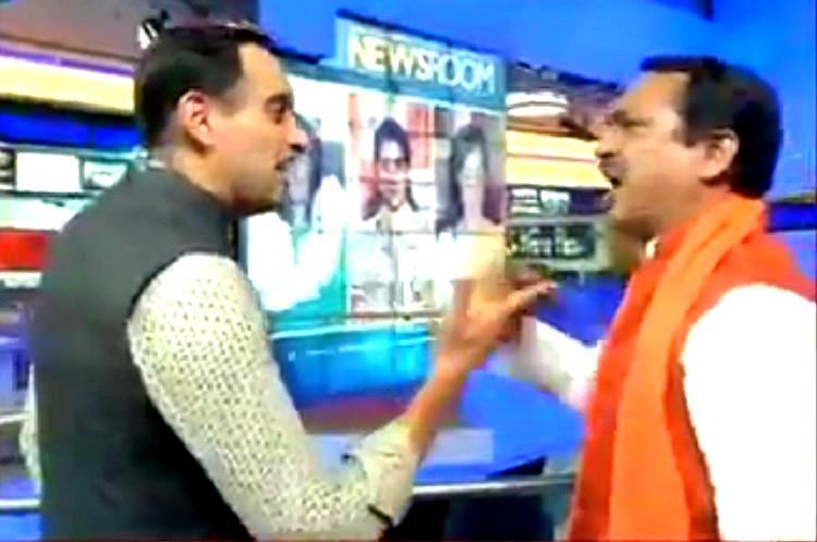 Watch When India Todays Rahul Kanwal and Hindu Yuva Vahini leader all but came to blows