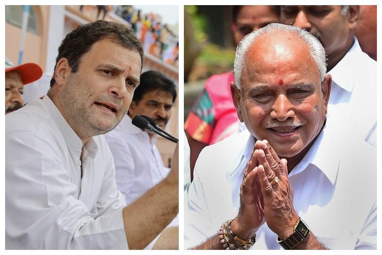 Rahul Gandhi slams Yeddyurappas swearing-in calls it mockery of Constitution