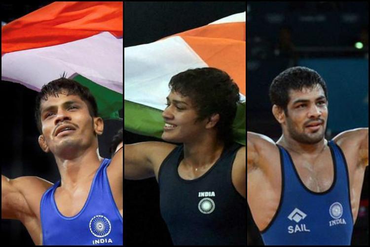 CWG Indian wrestlers shine Sushil Kumar bags third successive gold