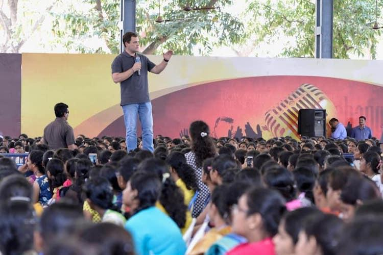 How was Rahul permitted to speak at Chennai Stella Maris TN Higher edu dept probes