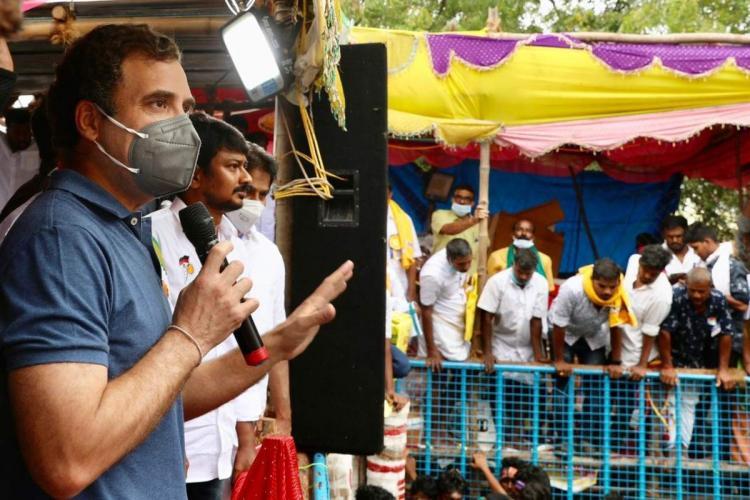 Congress leader Rahul Gandhi and DMK youth wing secretary Udhayanidhi Stalin
