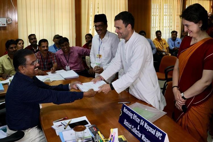 Amidst huge fanfare Rahul Gandhi files nomination in Wayanad