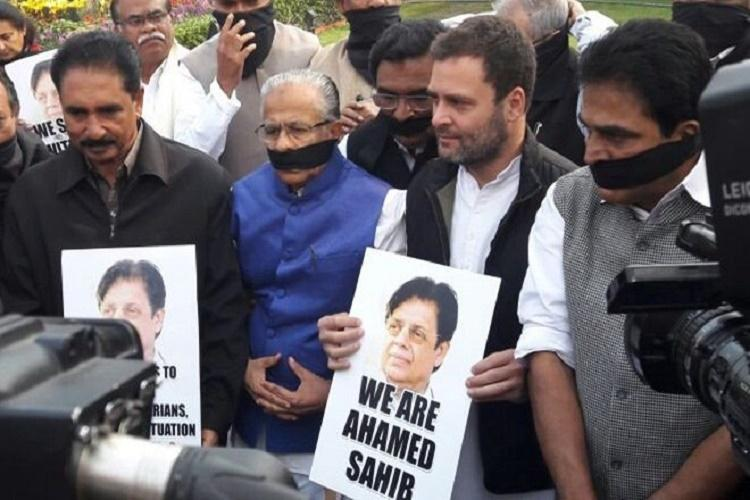 Why stop E Ahameds family from seeing his body Rahul Gandhi joins Kerala MPs protest
