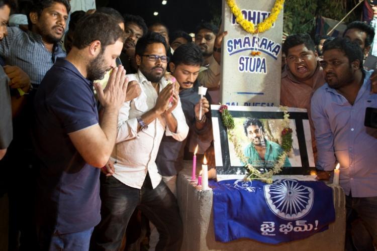 Rahul Gandhi joins hunger strike on Rohith Vemulas birth anniversary