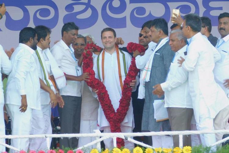 We developed rapidly without fake promises Rahul Gandhi on Siddaramaiah govt