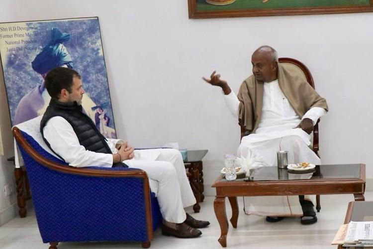 JDS will contest 10 seats in LS polls claims Deve Gowda after talks with Rahul Gandhi