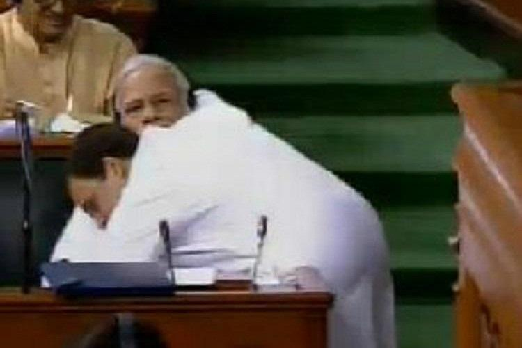 The Internet cannot get over Rahul Gandhis hug for PM Modi in Lok Sabha
