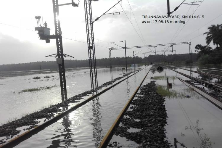 kerala floods  rail services slowly restart  list of
