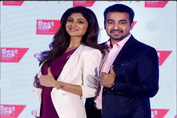 A file picture of Raj Kundra and Shilpa Shetty at an event