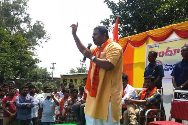 Hyderabad BJP MLA Raja Singh allegedly attacked stones pelted