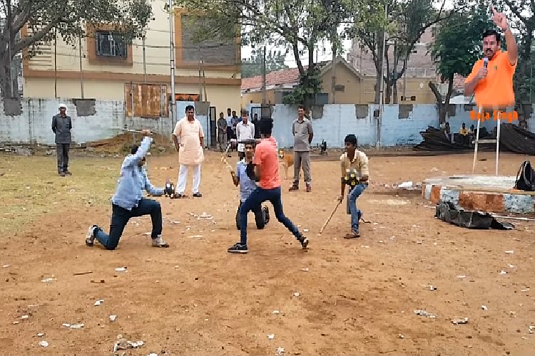 Video shows Hyd BJP MLA overseeing weapon training Muslim groups call it threat to peace
