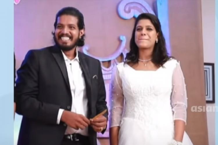 Wedding photo of Image Unni Dev and Priyanka
