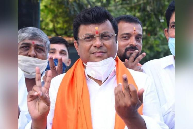 BJP candidate Rajesh Gowda in Sira
