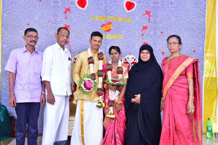 Kerala Muslim couple hold temple wedding for their adopted Hindu daughter