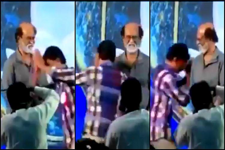 Watch This Rajini fan takes the cake when it comes to Thalaivar worship
