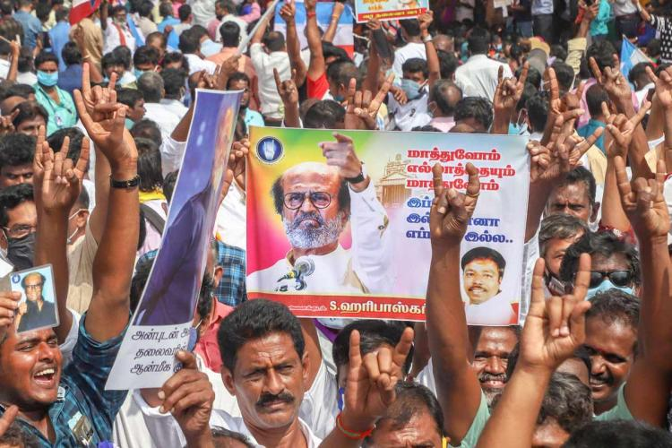 Va Thalaiva': How a large protest was organised to ask Rajini to join  politics | The News Minute