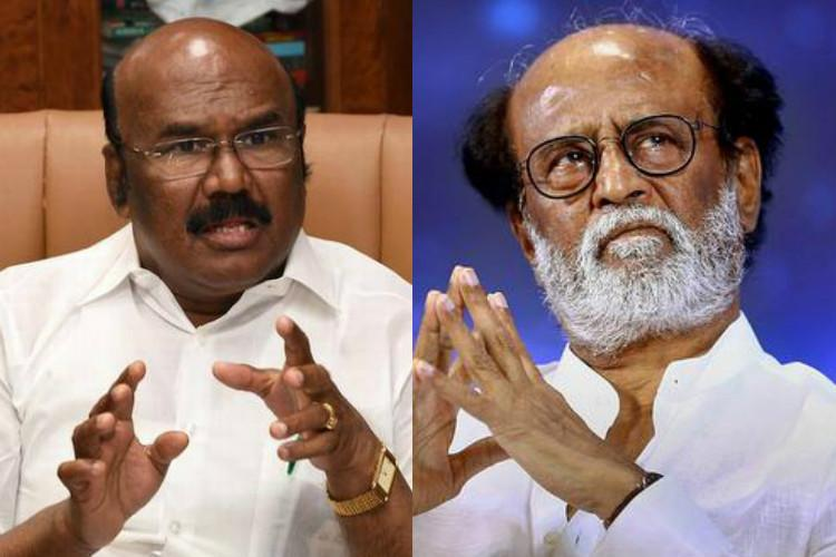 AIADMK condemns Rajinikanths remarks on Periyar denies actors version of 1971 incident