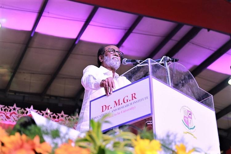 There is a vacuum in TN politics and I am here to fill it Politician Rajini declares