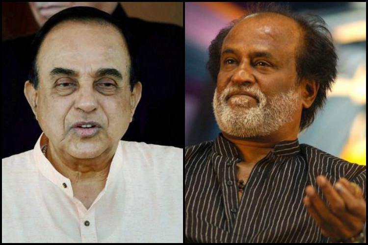 Swamy vs Superstar Rajini has committed financial fraud should not enter politics