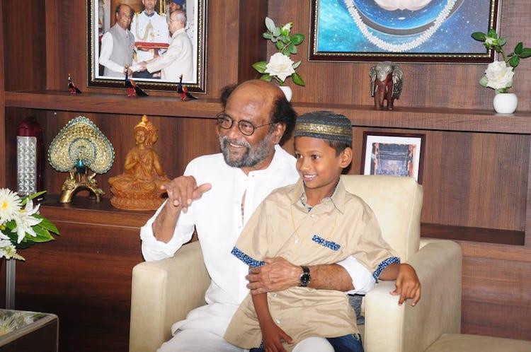 Date with superstar Rajini promises to sponsor studies of TN boy who returned Rs 50k