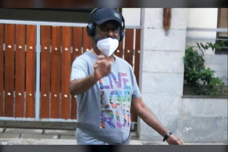 In viral pic Rajinikanth is all style as he goes for morning walk