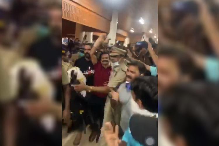 COVID-19 Bigg Boss misogynist Rajith Kumars fans arrested for thronging Kochi airport